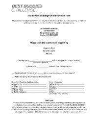 Offline Donation Form